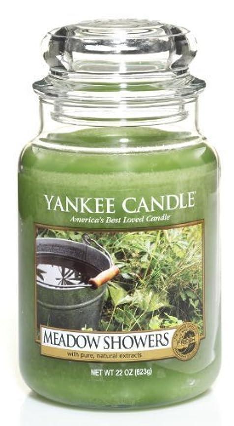 知る原稿筋肉のYankee Candle Meadow Showers Large Jar Candle、新鮮な香り