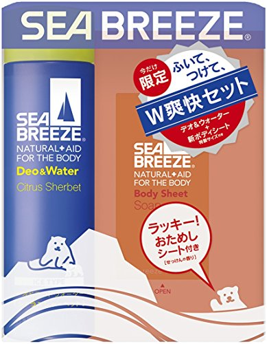 シーブリーズ デオ&ウォーター アイスタイプ シトラスシャーベットの香り 160ml  特製ボディシート せっけんの香り付(医薬部外品)