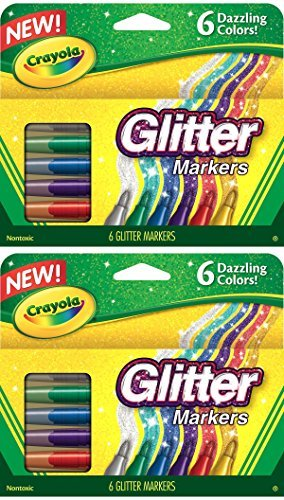[クレヨラ]Crayola 2 PACK Glitter Markers, 6 Count 58-8629 [並行輸入品]