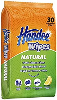 Handee Natural Multi-Purpose Wipes -30 Wipes Pack, 30 count