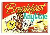 ベーコン、卵、コーヒー冷蔵庫マグネット署名( 2x 3インチ)