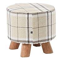 フットスツールオットマン の快適な モダンラグジュアリー布張り大フットスツールオットマンプーフスツール木製4レッグス ホーム&コマーシャル用 (サイズ さいず : 28×26cm)