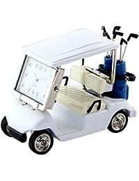 ミニチュアクロックコレクション(MiniatureClockCollection)ミニチュア置時計 ゴルフカート ホワイト 白 C3570-WH