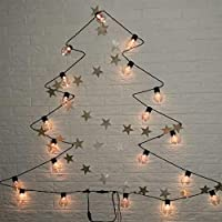 クリスマスライト、照明装飾のための6メートル20主導の透明電球主導クリスマスライト、ストリングライト防水カーテンホームクリスマスライト デコレーション (Color : Warm white)