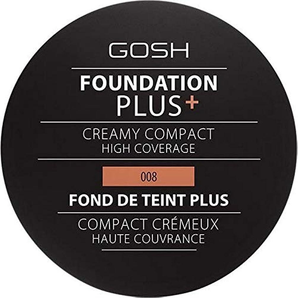 副産物カテゴリー脱獄[GOSH ] おやっ基盤プラス008 +クリーミーコンパクト黄金 - Gosh Foundation Plus+ Creamy Compact Golden 008 [並行輸入品]