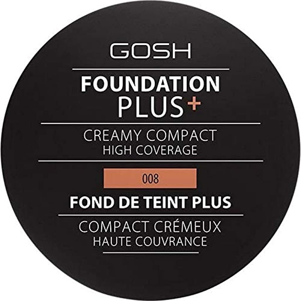 抽象ツールのため[GOSH ] おやっ基盤プラス008 +クリーミーコンパクト黄金 - Gosh Foundation Plus+ Creamy Compact Golden 008 [並行輸入品]
