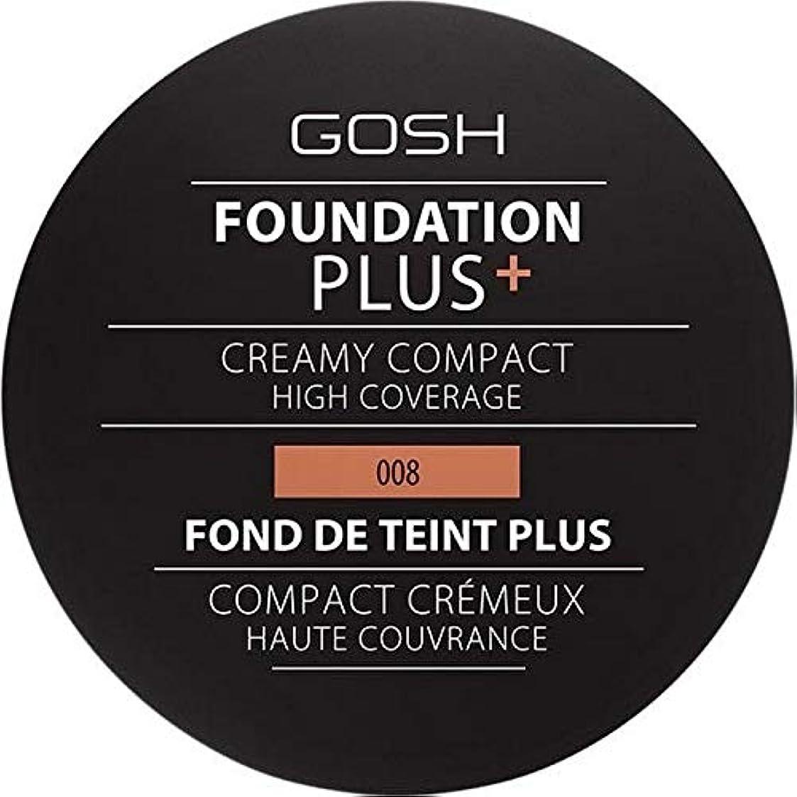 地下鉄噴水立法[GOSH ] おやっ基盤プラス008 +クリーミーコンパクト黄金 - Gosh Foundation Plus+ Creamy Compact Golden 008 [並行輸入品]