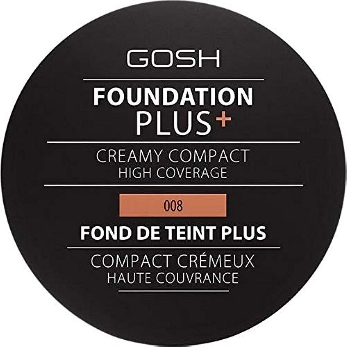 コーンウォール件名色[GOSH ] おやっ基盤プラス008 +クリーミーコンパクト黄金 - Gosh Foundation Plus+ Creamy Compact Golden 008 [並行輸入品]
