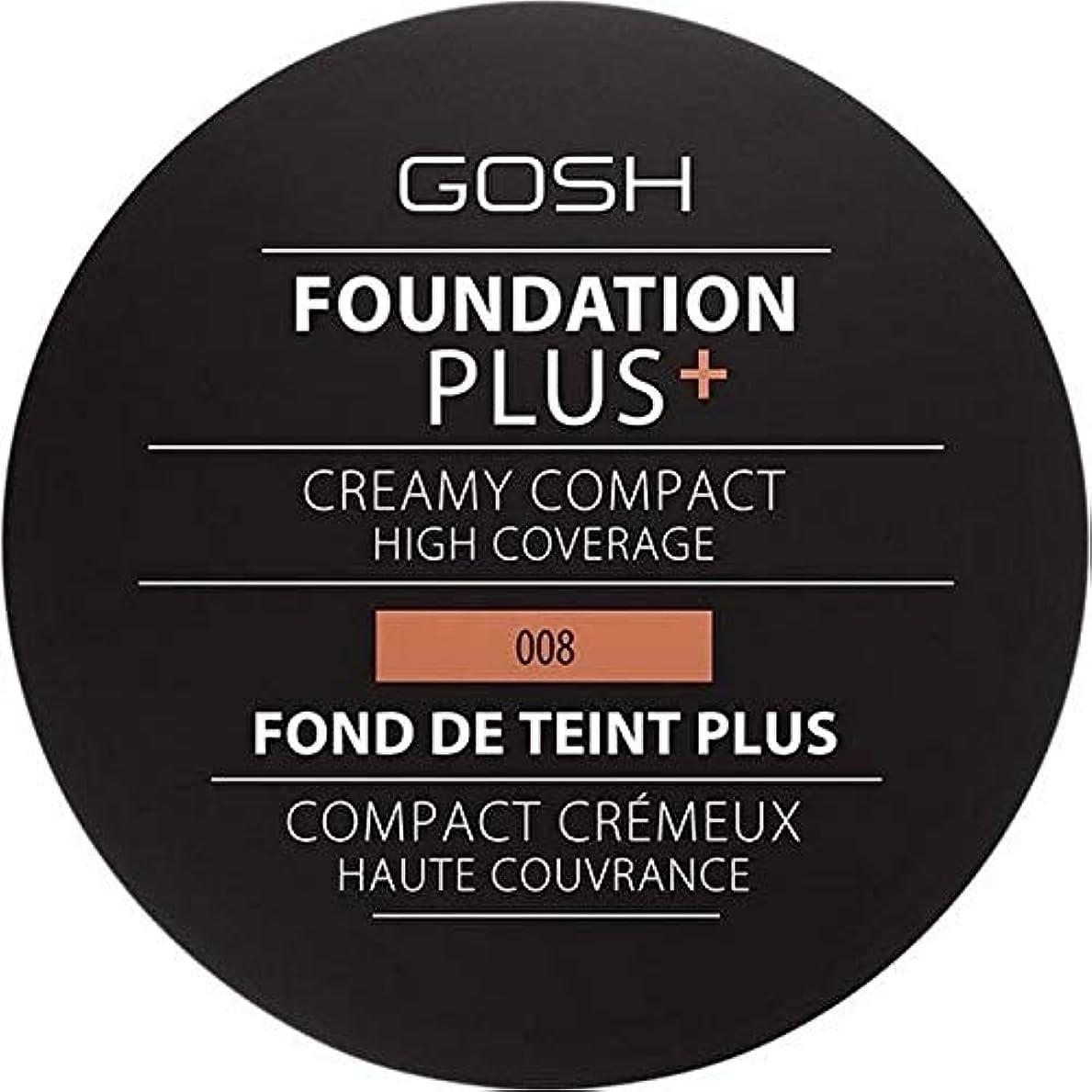 悲しいテレビ局スペイン[GOSH ] おやっ基盤プラス008 +クリーミーコンパクト黄金 - Gosh Foundation Plus+ Creamy Compact Golden 008 [並行輸入品]