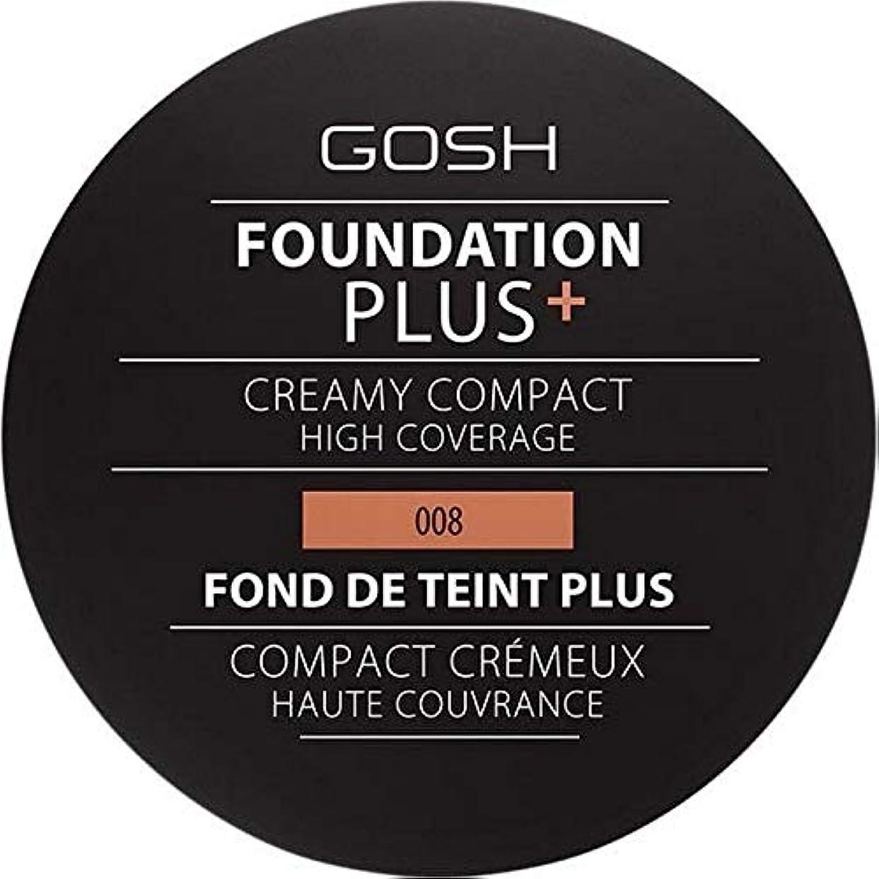 強制的パケット差し迫った[GOSH ] おやっ基盤プラス008 +クリーミーコンパクト黄金 - Gosh Foundation Plus+ Creamy Compact Golden 008 [並行輸入品]