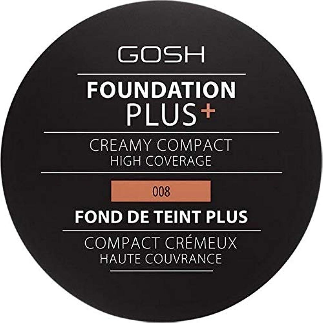 ジャグリングエンジニア補償[GOSH ] おやっ基盤プラス008 +クリーミーコンパクト黄金 - Gosh Foundation Plus+ Creamy Compact Golden 008 [並行輸入品]