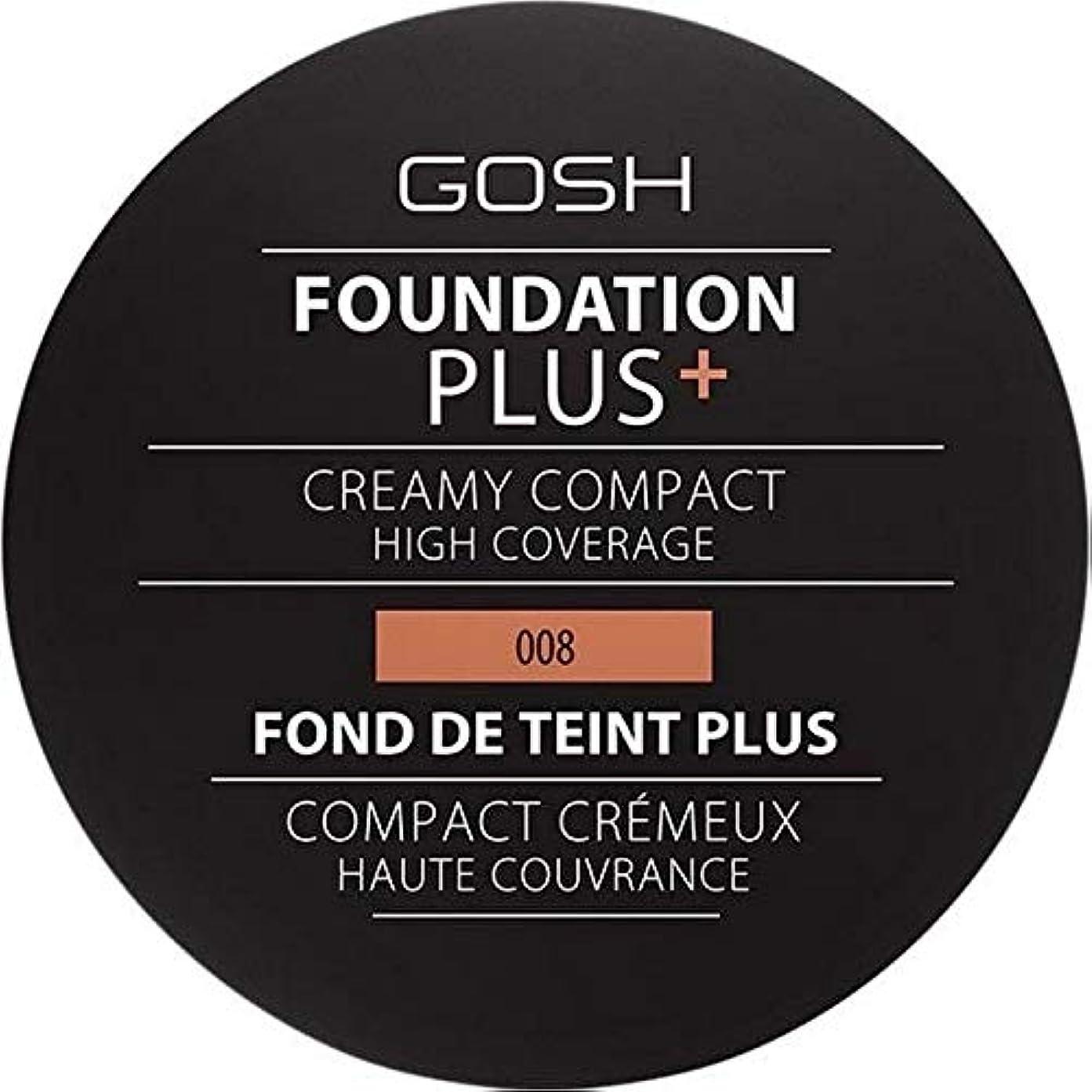 ミス付ける業界[GOSH ] おやっ基盤プラス008 +クリーミーコンパクト黄金 - Gosh Foundation Plus+ Creamy Compact Golden 008 [並行輸入品]