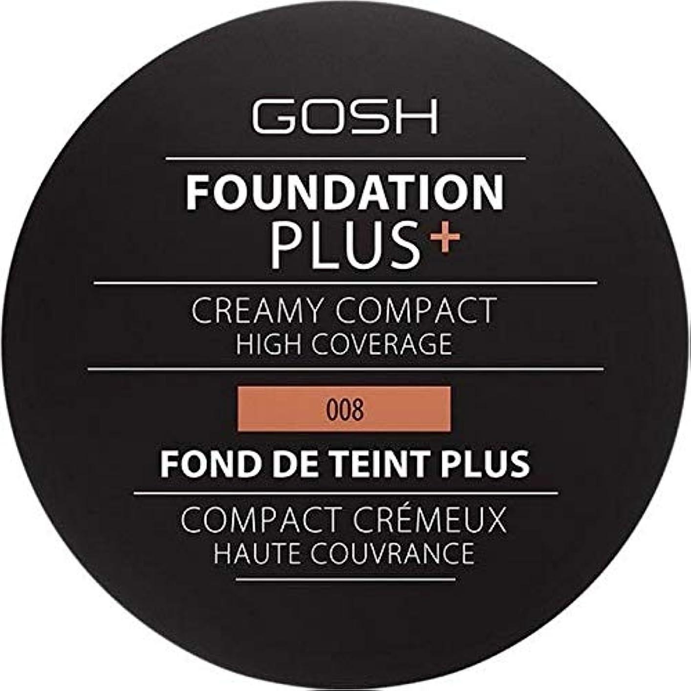 のり蒸発雇う[GOSH ] おやっ基盤プラス008 +クリーミーコンパクト黄金 - Gosh Foundation Plus+ Creamy Compact Golden 008 [並行輸入品]