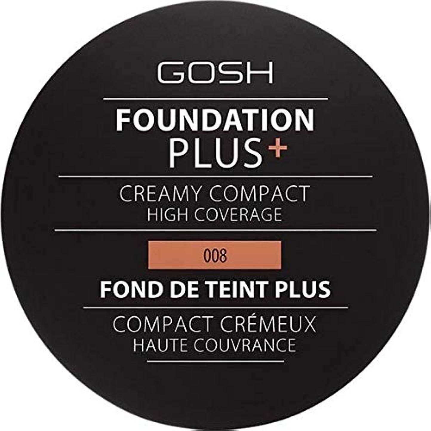 高層ビル寄付ファイター[GOSH ] おやっ基盤プラス008 +クリーミーコンパクト黄金 - Gosh Foundation Plus+ Creamy Compact Golden 008 [並行輸入品]