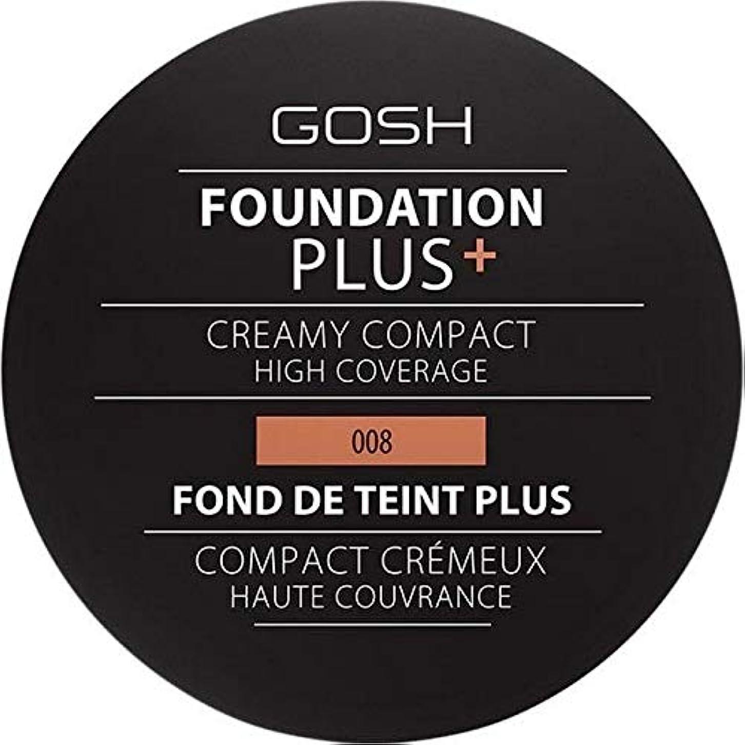 安心させる南西クリーム[GOSH ] おやっ基盤プラス008 +クリーミーコンパクト黄金 - Gosh Foundation Plus+ Creamy Compact Golden 008 [並行輸入品]
