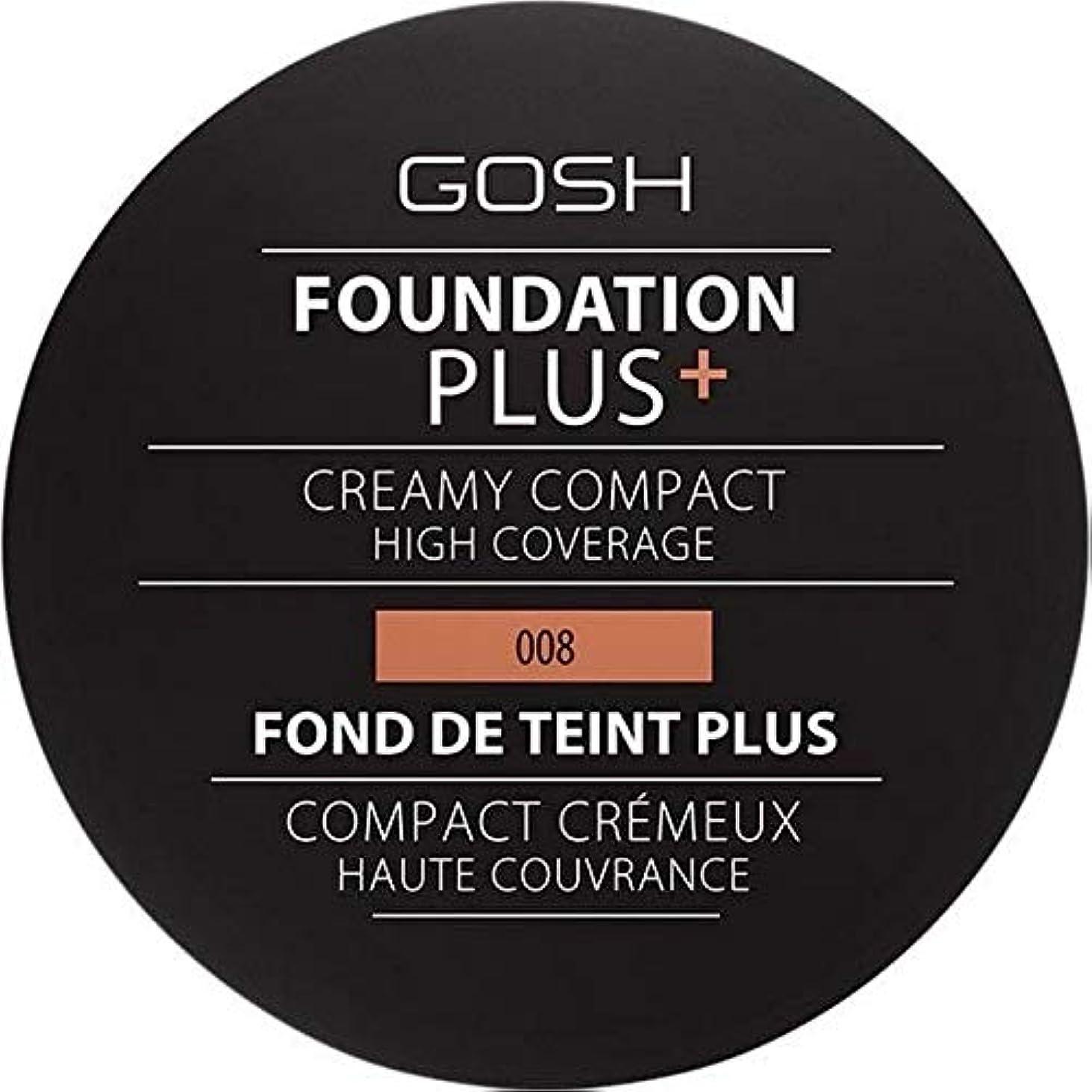 つなぐ爬虫類マイル[GOSH ] おやっ基盤プラス008 +クリーミーコンパクト黄金 - Gosh Foundation Plus+ Creamy Compact Golden 008 [並行輸入品]