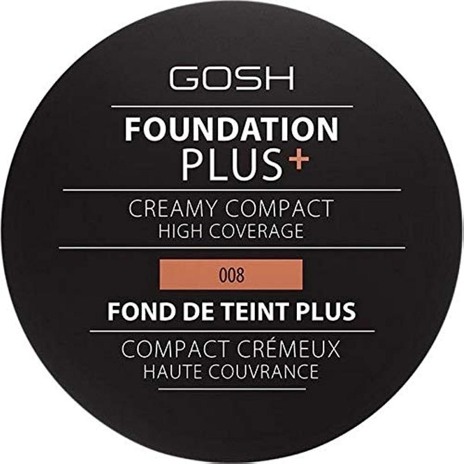 王室アノイハンマー[GOSH ] おやっ基盤プラス008 +クリーミーコンパクト黄金 - Gosh Foundation Plus+ Creamy Compact Golden 008 [並行輸入品]