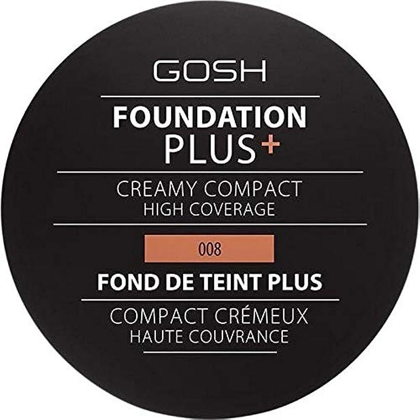政治家のサイバースペース平均[GOSH ] おやっ基盤プラス008 +クリーミーコンパクト黄金 - Gosh Foundation Plus+ Creamy Compact Golden 008 [並行輸入品]