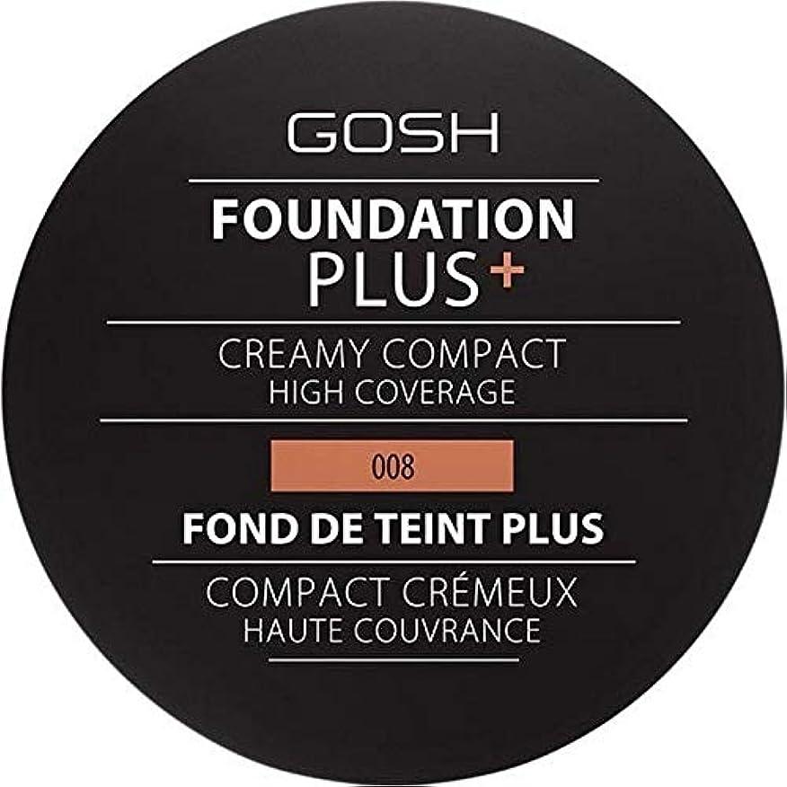 キモいオートマトン覚えている[GOSH ] おやっ基盤プラス008 +クリーミーコンパクト黄金 - Gosh Foundation Plus+ Creamy Compact Golden 008 [並行輸入品]