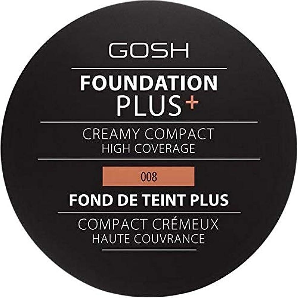 マーティンルーサーキングジュニア図プログレッシブ[GOSH ] おやっ基盤プラス008 +クリーミーコンパクト黄金 - Gosh Foundation Plus+ Creamy Compact Golden 008 [並行輸入品]