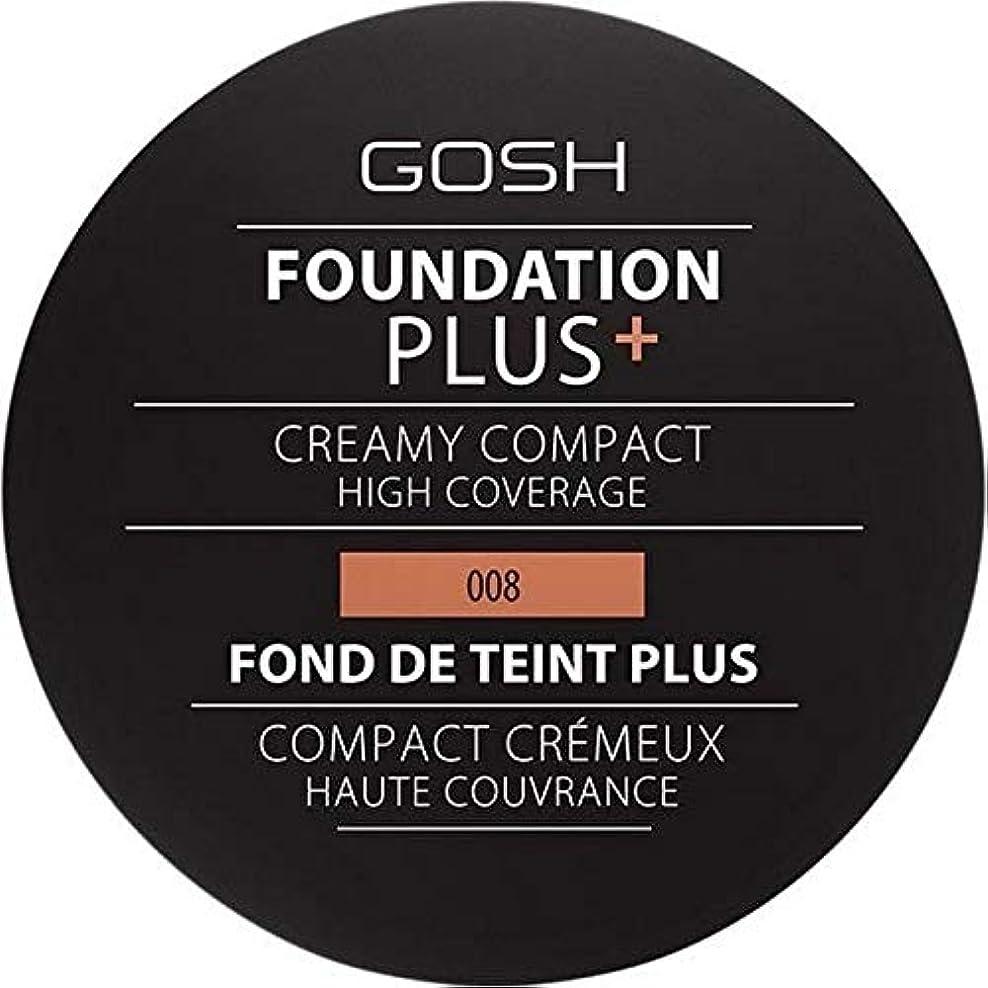 研究所ホールドオールロイヤリティ[GOSH ] おやっ基盤プラス008 +クリーミーコンパクト黄金 - Gosh Foundation Plus+ Creamy Compact Golden 008 [並行輸入品]