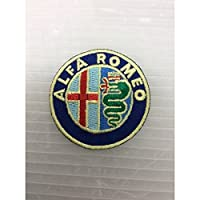 小型刺繍ワッペン(DX) (アルファメオ)アイロンワッペン 刺繍、エンブレム、大人気、オシャレ アップリケ 人気 アメ雑 アメリカン雑貨