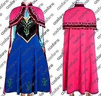1244Frozen アナと雪の女王 アナ ドレス コスプレ衣装(男性XL)