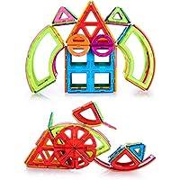 マグネットおもちゃ 子供プレゼント 磁石 おもちゃ 3d立体パズル カラフル 磁気建設玩具 磁石付き積み木 幾何学認知 想像力と創造力を育てる 男の子 女の子 おもちゃ 入園 お祝い クリスマス プレゼント(豪華の98ピースセット)