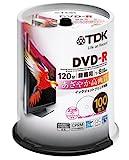 TDK 録画用DVD-R デジタル放送録画対応(CPRM) ホワイトワイドプリンタブル 1-8倍速 スピンドル100枚パック DR120DPWB100PU