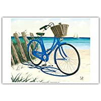 Blue by You – ブルーCruiser Bike At The Beach – From anオリジナルカラーペイントby Scott Westmoreland – マスターアートプリント 13