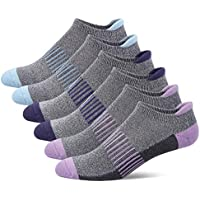 Women's Athletic Ankle Socks with Heel Tab, Premium Cotton, Soft Cushion, Reinforced Toe, Arch Support, Pack of 6