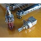 "Pair (2X) Bourns 500K Push/Pull Audio Taper Short (3/8"" bushing) Split Shaft Potentiometer"