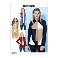 Butterick Patterns B6496A50 Jackets and Vests with Contrast and Seam Variations A5 (6-8-10-12-14) [並行輸入品]