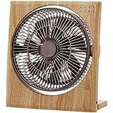 ドウシシャ ボックス扇風機 ボックスファン 折畳み機能 19cm ピエリア ナチュラルウッド FBT-191D NWD