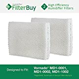 Vornado MD1-0001, MD1-0002, MD1-1002 Humidifier Wick Filter. Designed by FilterBuy to fit all Vornado Evaporative Humidifiers. Pack of 2 Filters. by FilterBuy