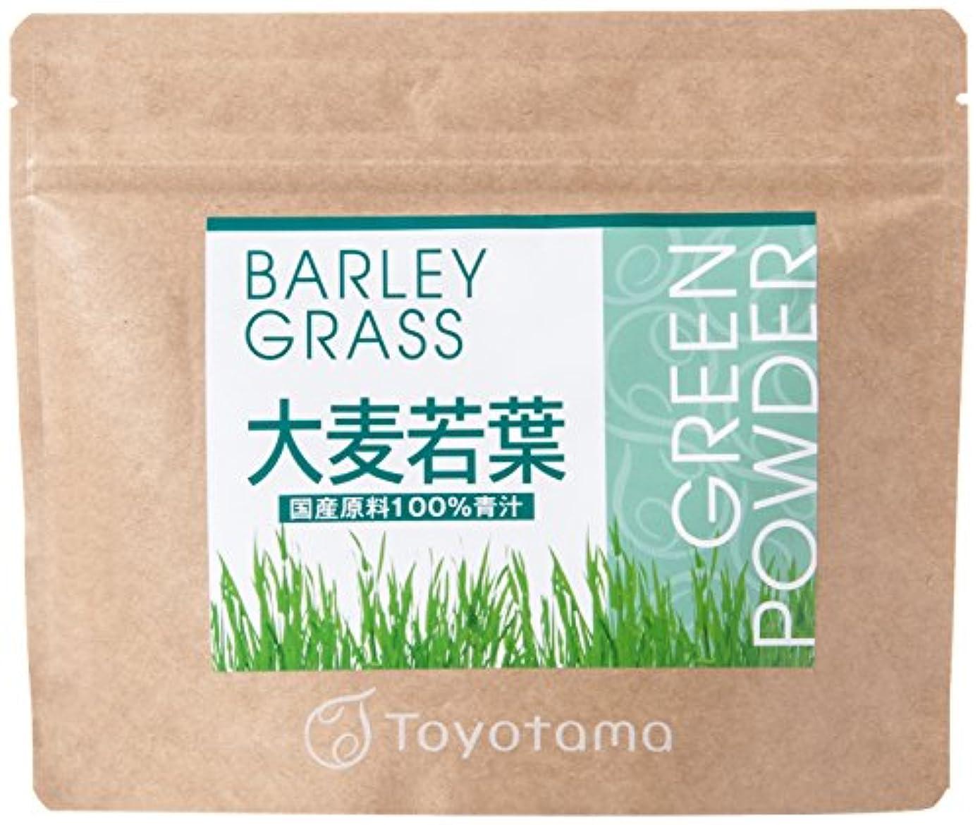 お肉混沌支店トヨタマ(TOYOTAMA) 国産大麦若葉100%青汁 90g (約30回分) 無添加 ピュアパウダー 1096313