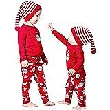 新生児服 クリスマス ベビー上下セット スノーマンプリント かわいい長袖ロングTシャツ 総柄パンツ ルームウェア 赤ちゃん プレゼント 0-18M