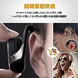 LEVIN Bluetooth イヤホン4.2[メーカー2年保証]圧迫感なしスポーツ防汗耳掛け式12時間再生通話可能Marathon 画像