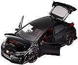 EBBRO 1/18 Honda CIVIC TYPE R 2015 (UK License Plate) Crystal Black Pearl