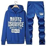 SemiAugust(セミオーガスト)メンズ 秋 新型 スウェットセット 上下 運動用 散歩用 普段着 男性用 カラーはブルー サイズは4XL