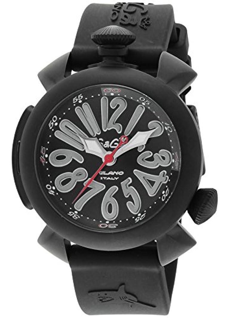 シエスタひらめき同盟[ガガミラノ] 腕時計 ダイビング48mm ブラック文字盤 ステンレス(BKPVD) ケース ラバーベルト 自動巻 300M防水 ダイバーズ 5042-BLKRUBBER 並行輸入品 ブラック