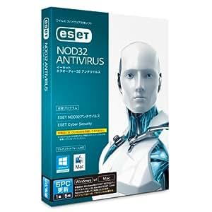 ESET NOD32アンチウイルス Windows/Mac対応 5PC更新(1年5台版/最新版)