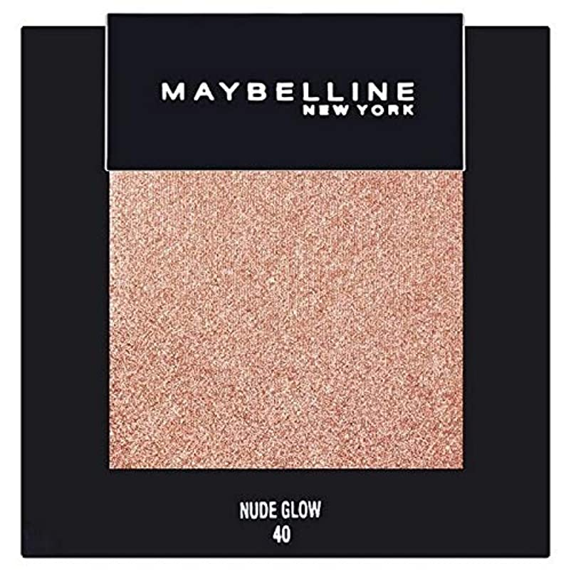 内なるアジャ主張[Maybelline ] メイベリンカラーショーシングルアイシャドウ40ヌードグロー - Maybelline Color Show Single Eyeshadow 40 Nude Glow [並行輸入品]