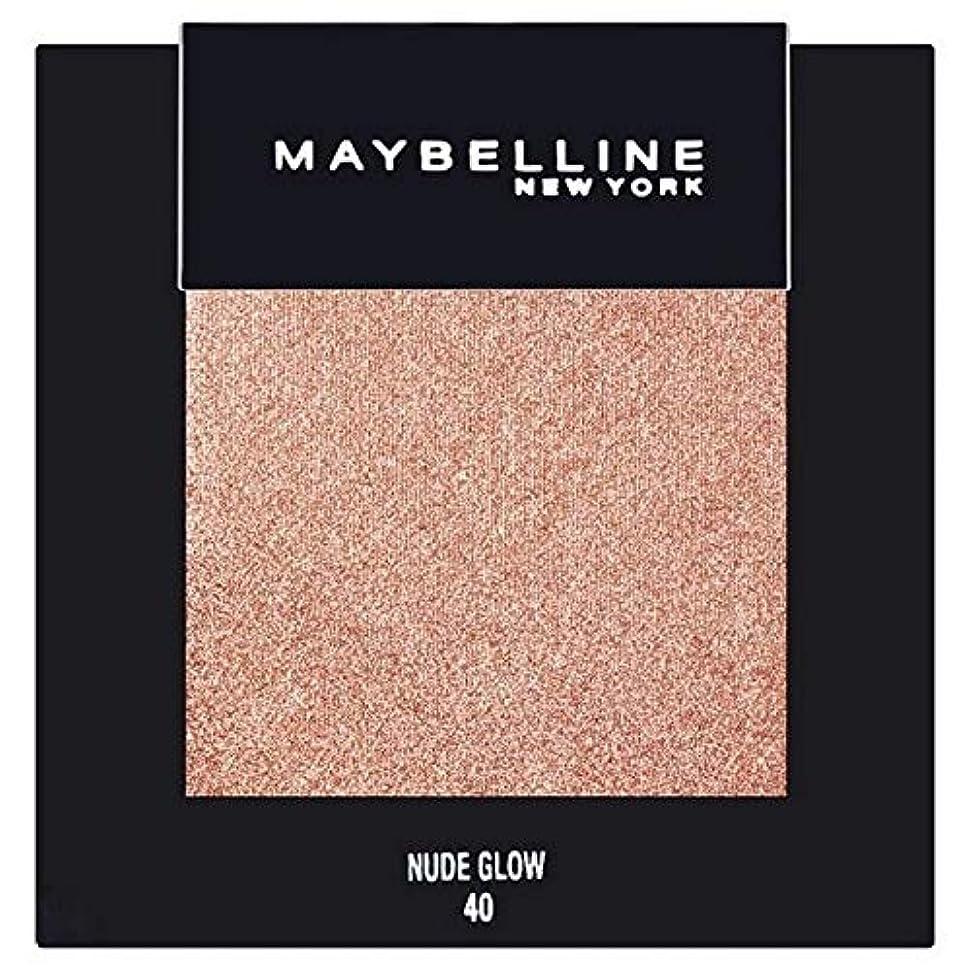 日食絶望アプローチ[Maybelline ] メイベリンカラーショーシングルアイシャドウ40ヌードグロー - Maybelline Color Show Single Eyeshadow 40 Nude Glow [並行輸入品]