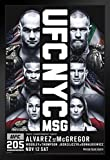 proframes UFC 205 Eddie Alvarez Vs Conor McGregorスポーツフレーム入りポスター12 x 18 18x12 inches