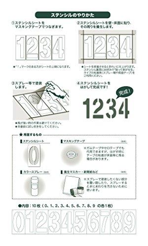 フロアサイン 数字ステンシル PRO(10枚入)文字丈30cm 角字書体