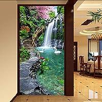 Xueshao カスタム写真壁紙壁絵画入り口通路山水風景大きな壁画壁紙用リビングルームモダンデザイン-250X175Cm