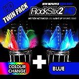 ROCKSTIX 2?HDブルー、明るいLEDライトUpドラムスティック, withフェード効果、Set Your Gig on Fire 。 ブルー 10764816