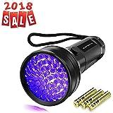 UV Flashlight Black Light, Vansky 51 LED Ultraviolet Blacklight Pet Urine Detector For Dog/Cat Urine,Dry Stains,Bed Bug, Matching with Pet Odor Eliminator (3AA Batteries Included)