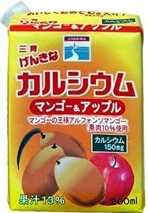 三育フーズ げんきなカルシウム マンゴー&アップル 200mL×12箱